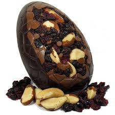 fruit and nut easter eggs chocolate brazil nut and cranberry easter egg