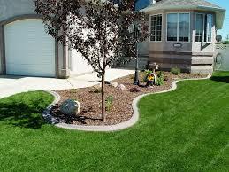 lawn edging ideas mulch decorating backyard with three lawn