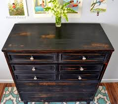 Painting Furniture White by Helen Nichole Designs Dresser In Pitch Black Milk Paint