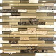 sample travertine emperador glass brown beige mosaic tile sample travertine emperador glass brown beige mosaic tile backsplash kitchen ebay