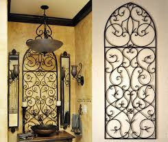 Iron Wrought Wall Decor Tuscan Iron Wall Decor Love The Tuscan Decor Bathroom Tuscan