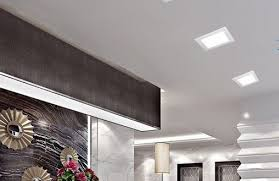 Square Recessed Ceiling Light Fixtures 4 Pack 6 Inch Led Square Downlight Trim 15w 100w Replacement