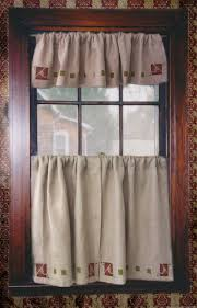 Linen Valance Curtains In The Arts U0026 Crafts Style U2014 Ann Wallace For Prairie Textiles