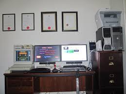 Office Desk Games by My Home Office Desk Setup Chief Technology Officer U0027s Blog