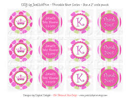little princess baby shower favor tags cupcake toppers