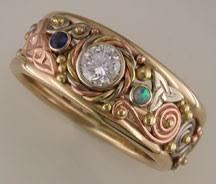 celtic rings gold celtic knotwork wedding rings
