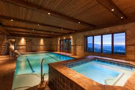 wonderful brown wood glass stainless modern design indoor pools