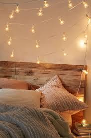 hanging fairy lights bedroom