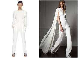 white jumpsuit wedding and the wore the trousers bridal musings white jumpsuit for