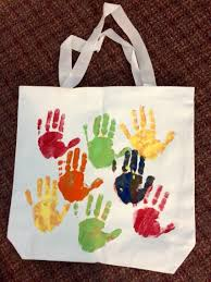 hand prints tote bag for mom mother u0027s day ideas pinterest