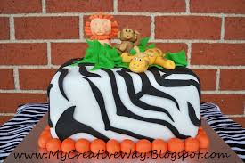 my creative way safari animal baby boy shower cake