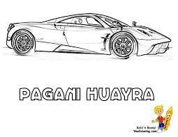lamborghini sketch side view hair raising cars coloring pages cars pagani aero car