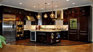 Dark Cabinets Light Countertops Decorations Tagged Dark Kitchen Cabinets With Blue Backsplash