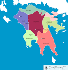 Map Of Ancient Greece by Regions Of Ancient Peloponnese Greece Maps Pinterest