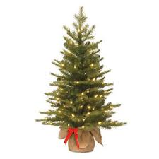 small artificial tree 3ft pre lit table top