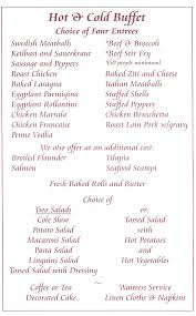 Buffet Menu For Wedding by New Jersey Caterers Corporate Catering Barbeque Catering
