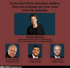 Sean Hannity Meme - political memes education matters rachel maddow vs hannity