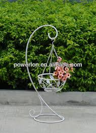 White Hanging Planter by Ornate Heart Shape Wrought Iron Metal Anitque White Hanging