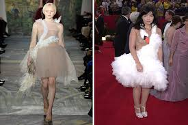 swan dress valentino takes a page out of bjork s book with swan dress photos