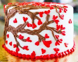 a cute heart cake design for valentine u0027s day cake 028