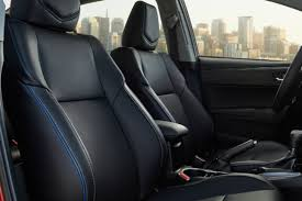 toyota leather seats what seat trims are available in the 2017 toyota corolla