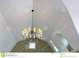 chandelier hang on sloped ceiling stock photo image 64696292