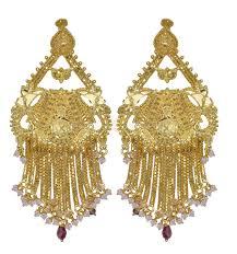 gold earrings for wedding wedding ideas splendi wedding gold earrings gold chandelier