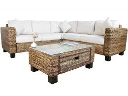 Uk Sofas Direct Abaca Rattan Corner Sofa