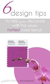 Tips For Decorating Home by Remodelaholic 6 Tips For Decorating With Radiant Orchid