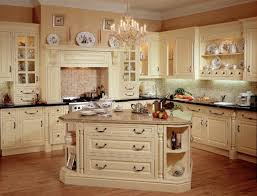 Small Country Kitchen Designs Two Pretty Chandelier Above The Island Small Country Style