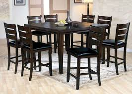 dining room cheap bar height table and chairs high with bench