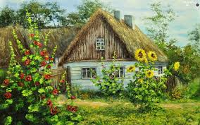 country garden flowers house beautiful views wallpapers