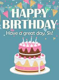 yum yum happy birthday cake card for sister birthday