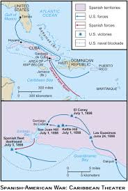 Map Of Us And Puerto Rico by Key Battles Of The Spanish American War Spanish American War