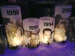 50th birthday bash custom candle centerpieces 3 classic an u2026 flickr
