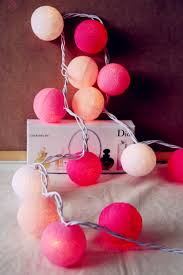 String Ball Lights by Diy Cotton Balls Fairy Light String 20 Purple Lavender And White