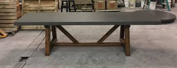 Concrete Reception Desk by Tables Bases U0026 Stools Creative Concrete Furniture Fabrication And