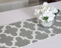 what is a table runner grey table runner etsy