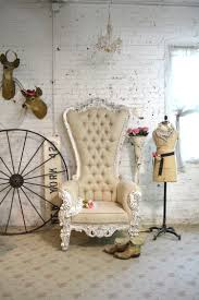 Tufted Upholstered Chairs Painted Cottage Chic Shabby French Tufted Upholstered Chair Chr97