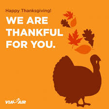 happy thanksgiving in espanol via airlines linkedin