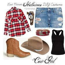 Halloween Cowgirl Costume Minute Diy Halloween Cowgirl Costume Polyvore
