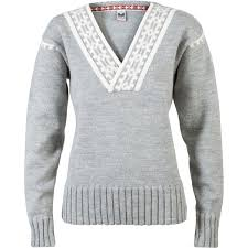 dale of norway alpina sweater light charcoal cream m sports