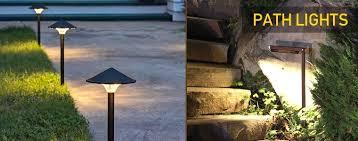 led pathway landscape lighting with design pro led path lights