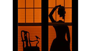 how to haunted house silhouettes make