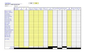Hotel Inventory Spreadsheet hotel inventory spreadsheet spreadsheets