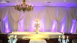 wedding backdrop on stage venues