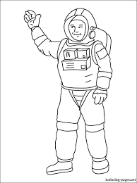 astronaut coloring page coloring pages