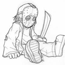 coloring pages jason voorhees coloring pages mycoloring free