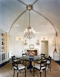 interior modern chandelier for dining room with black frame and