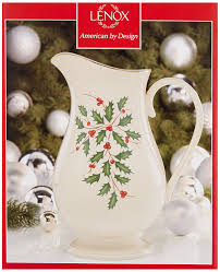 Lenox Christmas Vase Amazon Com Lenox Holiday Pitcher Ivory Christmas China Lenox